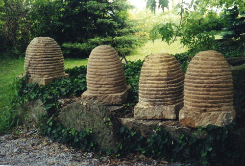 Four Bee Skeps
